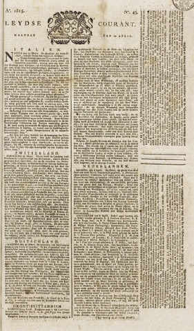 Leydse Courant 1815-04-10