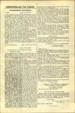 Handelingen van de Raad 1912-07-26