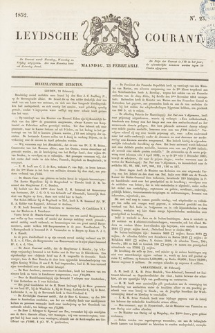 Leydse Courant 1852-02-23