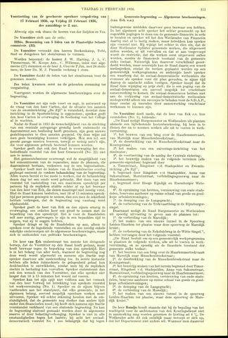 Handelingen van de Raad 1936-02-21