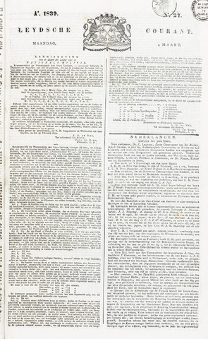 Leydse Courant 1839-03-04