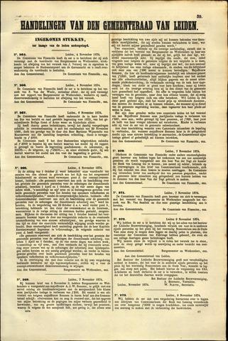 Handelingen van de Raad 1874-11-04