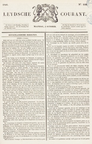Leydse Courant 1846-10-05
