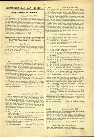 Handelingen van de Raad 1920-10-15