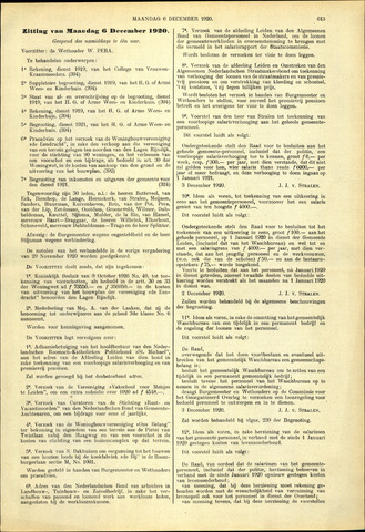Handelingen van de Raad 1920-12-06