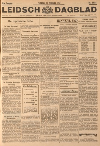 Leidsch Dagblad 1942-02-21