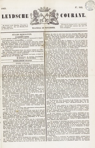 Leydse Courant 1865-11-20