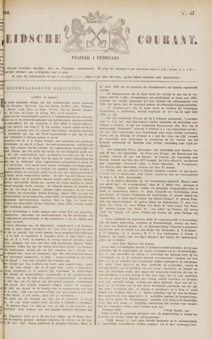 Leydse Courant 1884-02-01