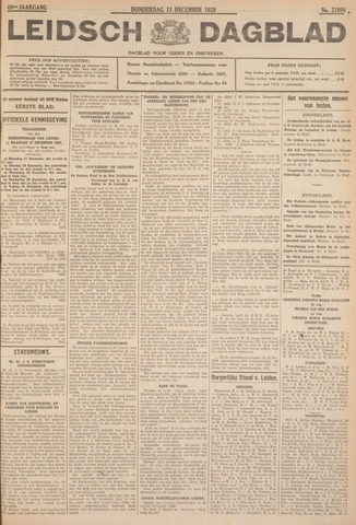 Leidsch Dagblad 1928-12-13