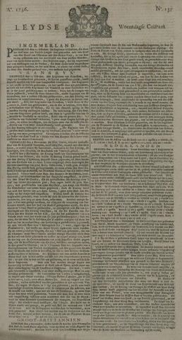 Leydse Courant 1736-11-14