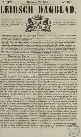 Leidsch Dagblad 1861-04-29