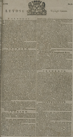 Leydse Courant 1729-04-29
