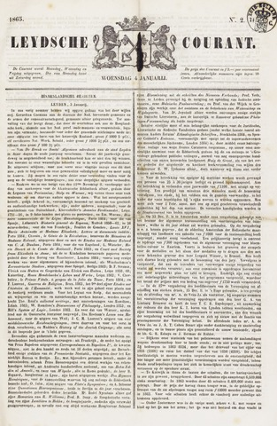 Leydse Courant 1865-01-04