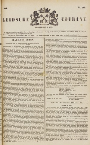 Leydse Courant 1884-05-01