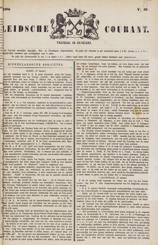 Leydse Courant 1884-01-18