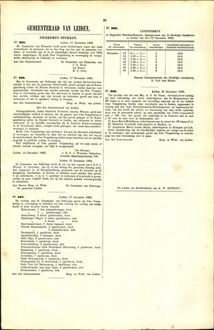 Handelingen van de Raad 1885-11-17