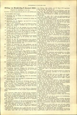 Handelingen van de Raad 1913-01-09