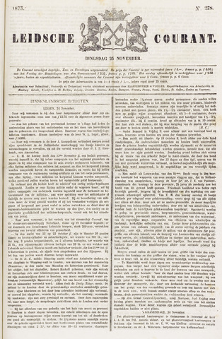 Leydse Courant 1873-11-25