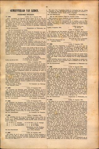Handelingen van de Raad 1881-08-09