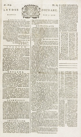 Leydse Courant 1819-05-31
