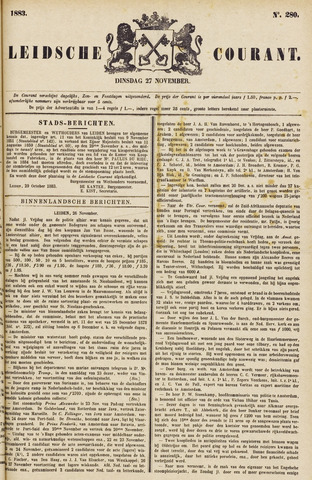 Leydse Courant 1883-11-27