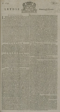 Leydse Courant 1739-06-29