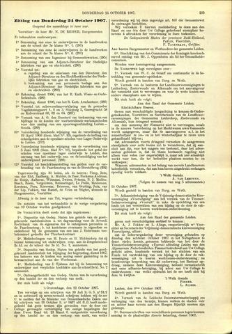 Handelingen van de Raad 1907-10-24