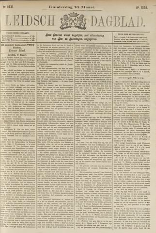 Leidsch Dagblad 1892-03-10