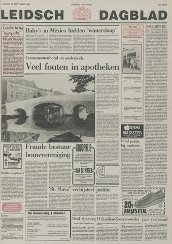 Leidsch Dagblad 1985-09-27