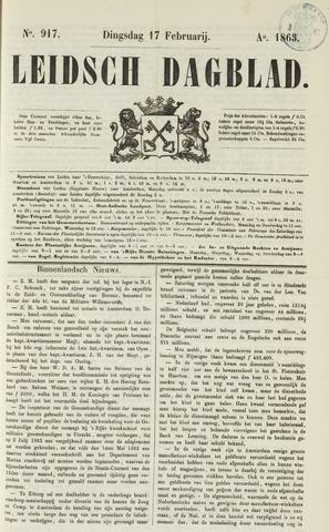 Leidsch Dagblad 1863-02-17