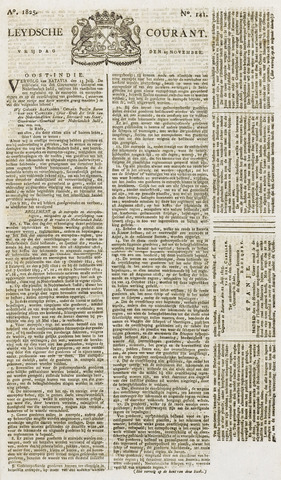 Leydse Courant 1825-11-25