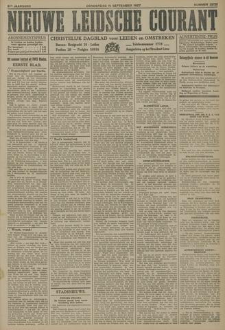 Nieuwe Leidsche Courant 1927-09-15