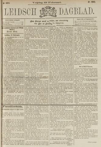 Leidsch Dagblad 1892-02-19