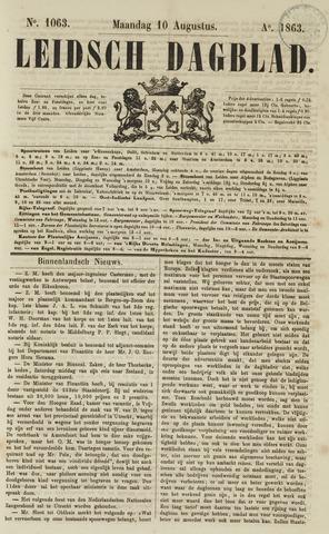 Leidsch Dagblad 1863-08-10