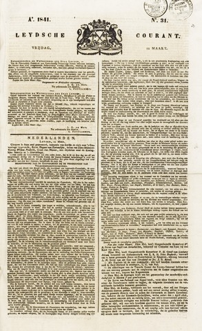 Leydse Courant 1841-03-12