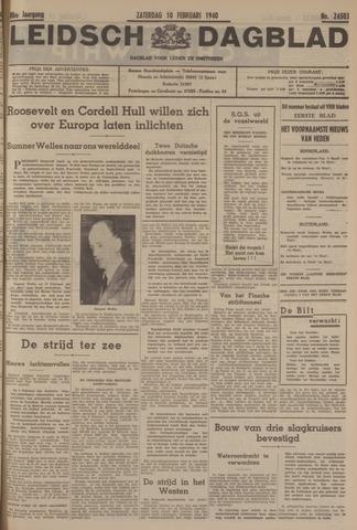 Leidsch Dagblad 1940-02-10