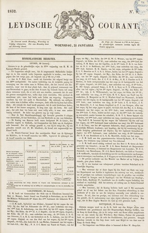 Leydse Courant 1852-01-21