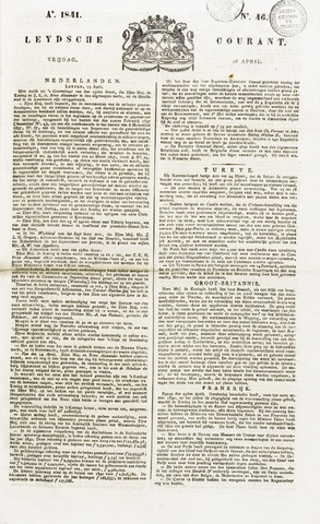 Leydse Courant 1841-04-16