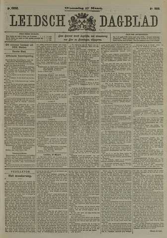 Leidsch Dagblad 1909-03-17