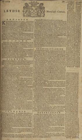 Leydse Courant 1759