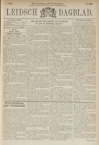Leidsch Dagblad 1893-02-15