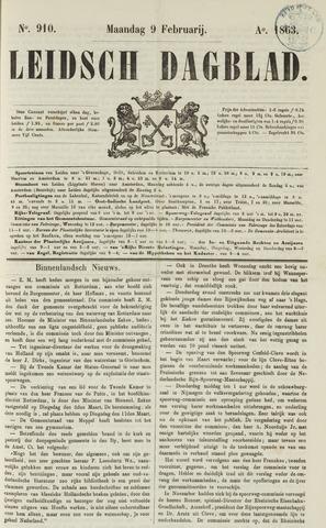 Leidsch Dagblad 1863-02-09