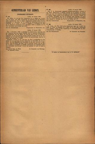 Handelingen van de Raad 1883-01-22