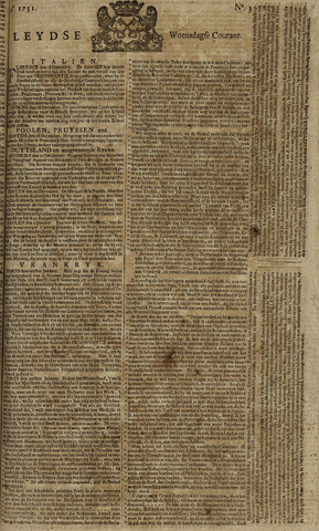 Leydse Courant 1751-01-06