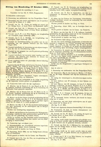 Handelingen van de Raad 1901-10-17