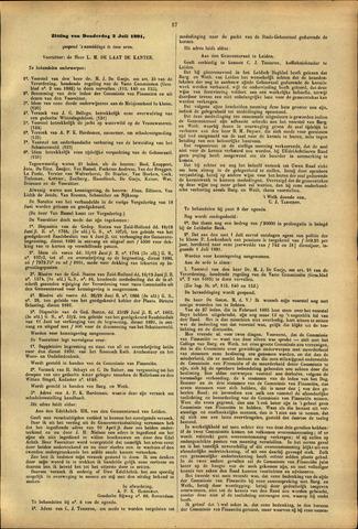 Handelingen van de Raad 1891-07-02