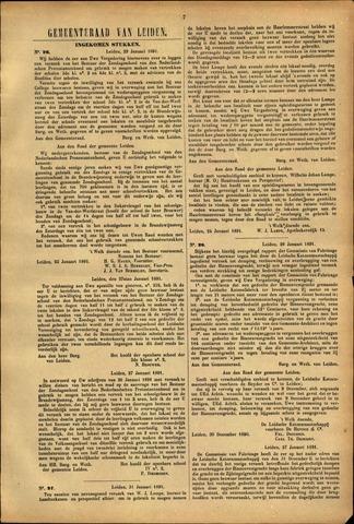 Handelingen van de Raad 1891-01-29