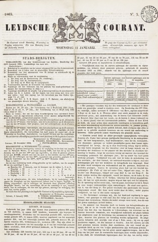 Leydse Courant 1865-01-11