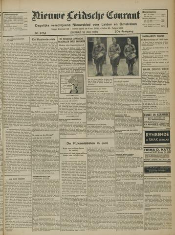 Nieuwe Leidsche Courant 1939-07-18