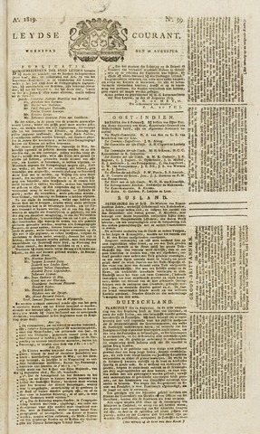Leydse Courant 1819-08-18